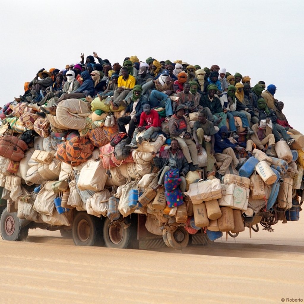 truck overloaded in Africa