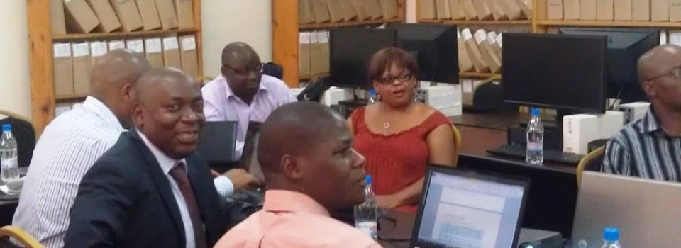 Zambia Ministry of Agriculture officials responsible for tracking various mega indicators in the Zambian AgSector attending a workshop to review the national data collection instrument for the preparation of the 2014 Zambia agSector Annual Trends and Outlook Report (ATOR).