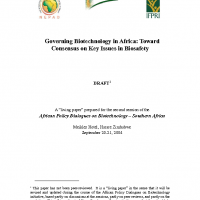 biosafetypaper – Governing Biotechnology in Africa